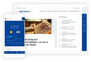 Capture d'écran du site Agrimutuel suite à la refonte réalisée par l'agence Unami