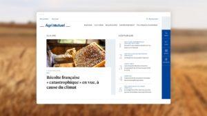 Page d'accueil du site Agrimutuel suite à la refonte