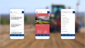 Captures d'écran des contenus d'actualité proposé par le site internet Agrimutuel