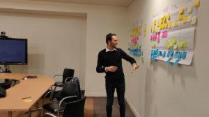 Photographie montrant un atélier de conception organisé dans le cadre du Lab utilisateur Vianavigo