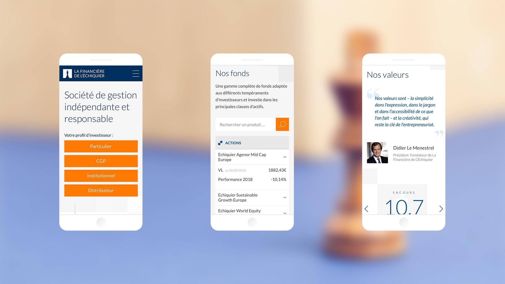 Page d'accueil du site de la LFDE sur un terminal mobile