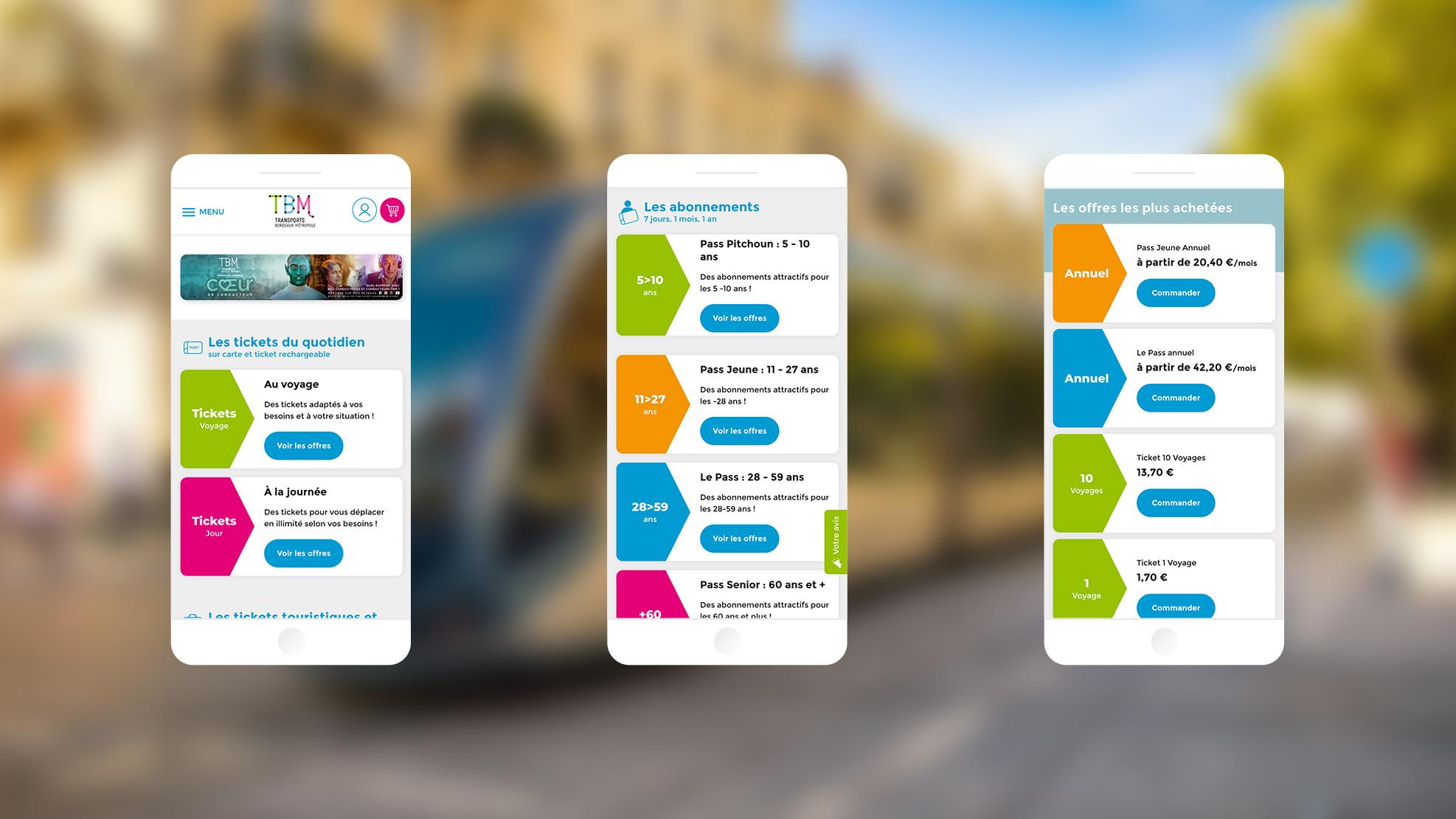 Eboutique TBM : une conception mobile first